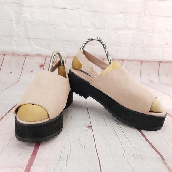 fcf3ae64e9 Forever 21 Shoes - FOREVER 21 Blush Faux Suede Platform Sandal